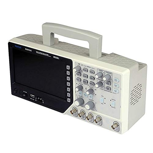 ARONG Útil Osciloscopio, multímetro osciloscopio Digital portátil USB 100MHz 2 Canales LCD + Funciones/arbitrario de Forma de Onda Generador Herramientas eléctricas industriales (Color : Silver)