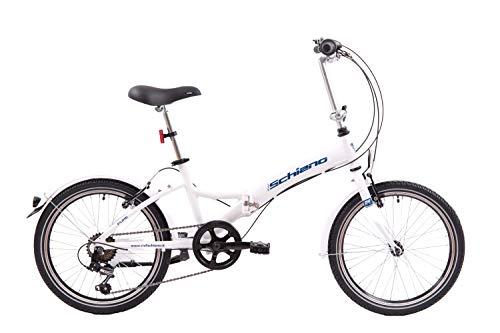 F.lli Schiano Pure Bicicleta, Adulto Unisex, Blanco-Azul, 20 ''