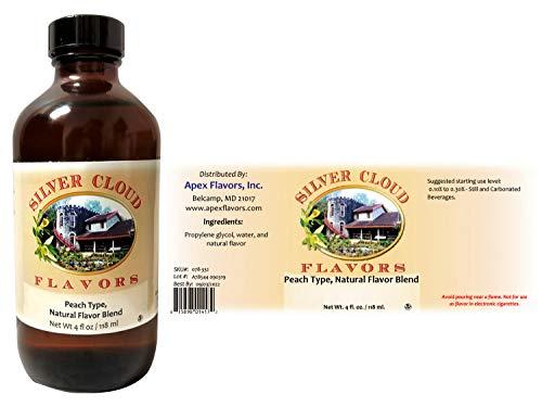 Peach Type Extract, Natural Flavor Blend - 4 fl. oz. bottle