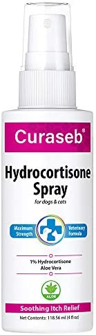 Curaseb Hydrocortisone Hot Spot Treatment for Dogs Cats Fast Itch Relief for Hotspots Rashes product image