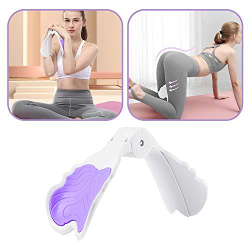 WAOAW Beckenboden Trainer Damen, Oberschenkeltrainer für Übung Gymnastik Yoga Sport Abnehmen Training(Charme Lila)