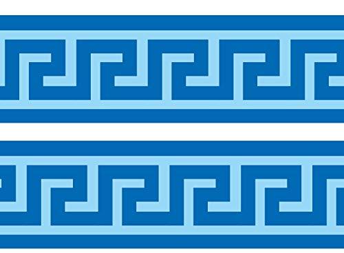 wandmotiv24 Bordüre Mäander 260cm Breite - Selbstklebend Borte Tapetenbordüre Bordüren Borde Wandborde Griechenland Fluss Muster M0004