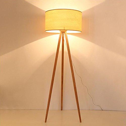Popa Chambre lampadaire Lampadaire américain Simple Bois Massif Trois Pieds lampadaire lampadaire lampadaire en Bois Cadre lampadaire Vertical lampadaires