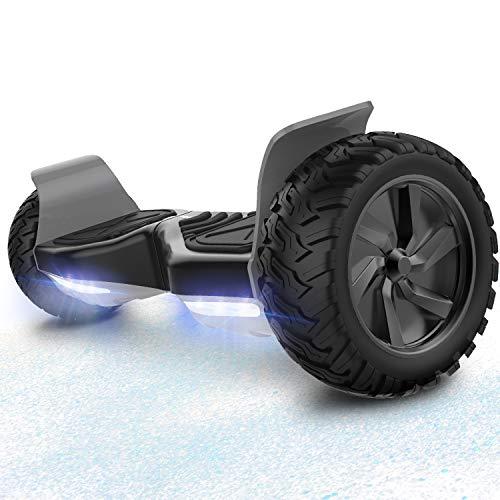 RCB Scooter Eléctrico de Auto-Equilibrio - Estándar de la UE - Off Road Patinete Eléctrico Todo Terreno Hummer de 8.5 Pulgadas con Bluetooth App LED Motor Potente 2 * 350W