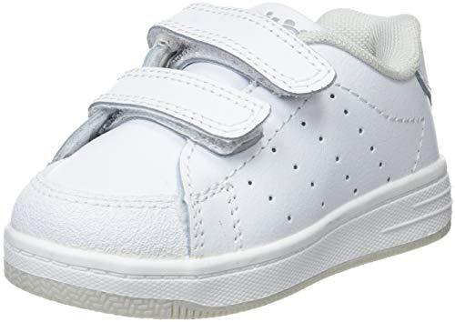 Conguitos Deportivo Colegial Unisex, Zapatos de Cordones Derby niños, Blanco (Blanco 1), 20 EU