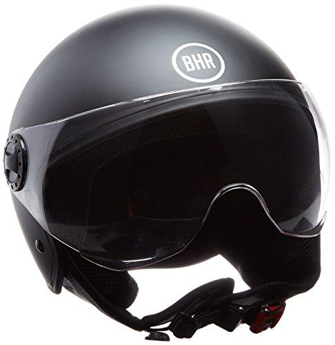 Preisvergleich Produktbild BHR 24216 Helm Demi-Jet,  Schwarz matt,  M (57 / 58 cm)