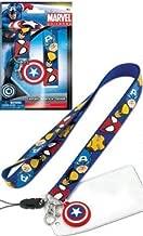 Marvel (Captain America, Iron Man, Wolverine, and Spiderman) Lanyard Keychain Holder Bonus Shield Charm and ID Card Holder