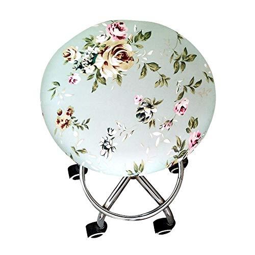 Alicer Runder Hocker-Bezug, Barhocker-Bezug, Sitzkissen, Four Seasons Soft Elastic Chair Hocker-Bezug mit Blumenmuster für Bar Seat Home