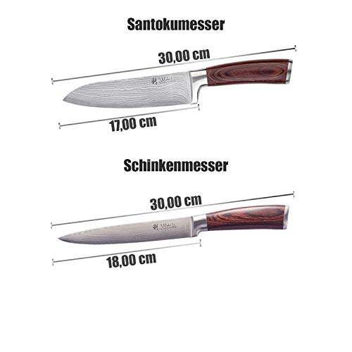 Wakoli 4er Damastmesser Set - 6