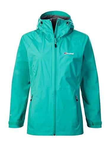Berghaus Damen Stormcloud Jacket Wasserfeste Jacke, Deep Green (Grey), XL