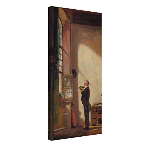 Bilderwelten Leinwandbild - Carl Spitzweg - Der Schreiber - Hoch 2:1, 80cm x 40cm