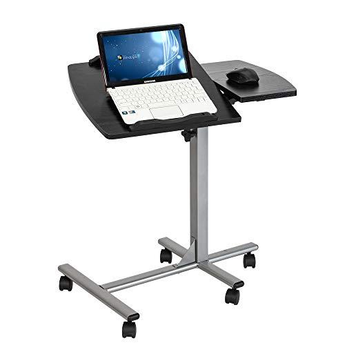 Kcelarec Height Adjustable Mobile Laptop Computer Desk Cart Ergonomic Home Office Stand Rolling Side Table