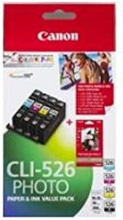 Canon CLI526VP Value Pack (1 x CLI526C/M/Y/BK + PP201 50 Sheets)