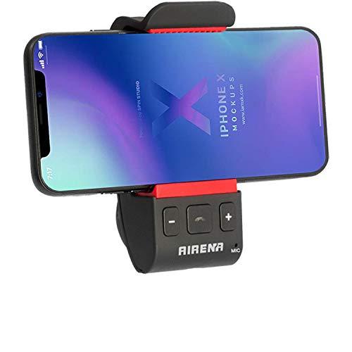 Kit de Altavoces Manos Libres Coche Automóvil Bluetooth, Manos Libres Bluetooth para el Coche con Soporte para iPhone X/8/7/6 Plus/6s/SE Galaxy S8 S7 S6 Note 8 6 5 4 Android Smartphone GPS Navegador