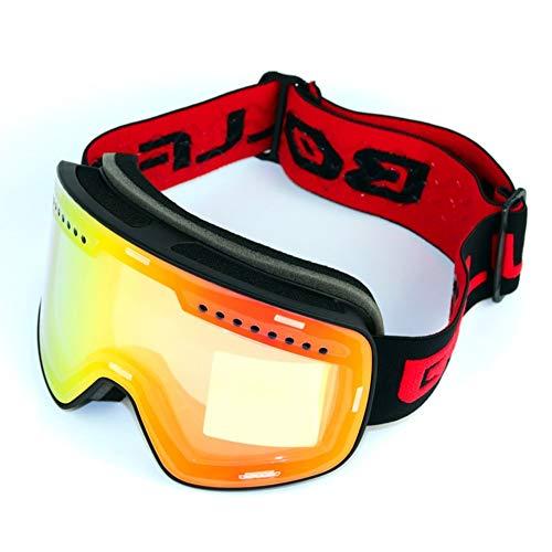 WUIO Glazen, magnetisch, dubbele glazen voor bergbeklimmen, UV400, condensvrij, skibril voor mannen en vrouwen, sneeuwbril