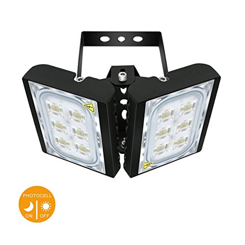 Motion Sensor Light, STASUN 5400lm 60W LED Flood Light Outdoor with Wider Lighting Angle, 6000K Daylight, Built with Cree LED Chips, Waterproof, Great for Yard, Patio, Garage