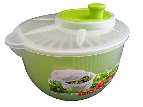 DAKE Centrifugadora Lechuga Pequeña Profesional Ensalada Verduras Manual Escurridor Hojas Transparente Colores (Verde)