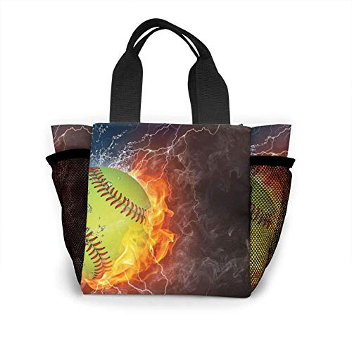 Portable Lunch Tote Lunch Bags Lunchbox Pouch Bento Box Mesh Pocket Side Fit Office School Beach Picnic for Women Kids,Silhouette ATV Or Quad Bikes Jump in The Sunset