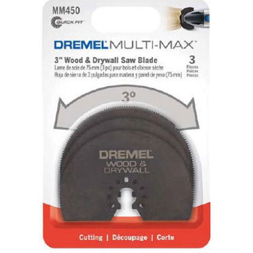 Dremel MM450B Universal Quick-Fit Multi-Max Wood Drywall Oscillating Tool Saw Blade, 3-Pack – Multi Tool Accessories- Perfect for Cutting Wood and Drywall