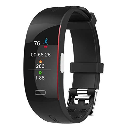 Cake Relojes Inteligentes compatibles con teléfonos Android iOS con oxígeno en Sangre, presión Arterial, Monitor de frecuencia cardíaca, Resistente al Agua,F