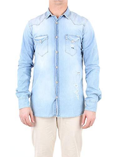 Aglini Luxury Fashion Herren 123807JEANSCHIARO Blau Hemd | Jahreszeit Outlet