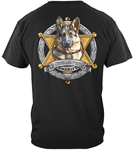 Erazor Bits Law Enforcement T-Shirt Elite Breed K9 Sheriff X-Large Black