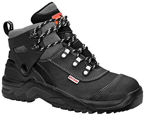 ELTEN Sicherheitsschuhe DINO black S3, Herren, Umknickschutz, leicht, schwarz, Stahlkappe - Größe 39