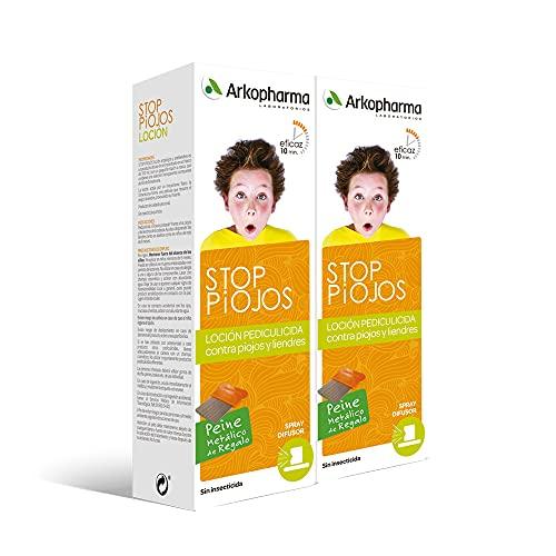Arkopharma Stop Piojos Loción, Spray Dimeticona 100ml Pack X2, Anti Piojos, Anti Liendres, Tratamiento Contra Piojos Y Liendres, Actúa En 10 Minutos, 200 Mililitro