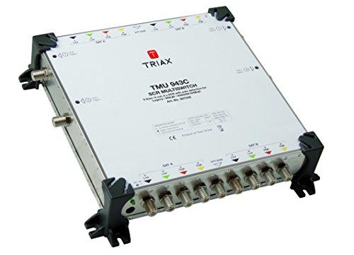 Triax TMU 943 C 4 Ausgänge mit 3 SCR Frequenzen/EIN Standard Receiver pro Ausgang weiß