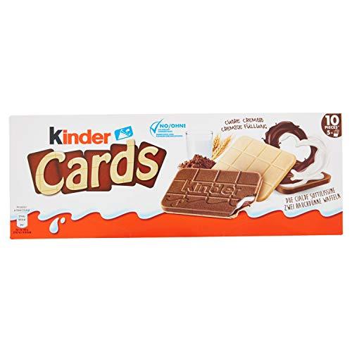Kinder Cards - Biscotto Ripieno al Latte e Cacao - 128 g