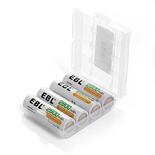 EBL hohe Kapazität 2800mah NI-MH Akku AA Akku mit Aufbewahrungsbox wiederaufladbare Batterie 4 Stück