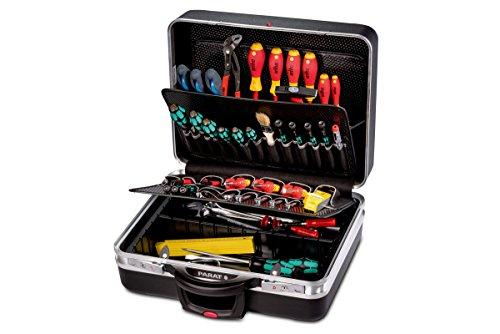 Parat Werkzeugkoffer CLASSIC KingSize Roll TSA Lock (mit Werkzeughalter, Bodenschale, Rollen und Schloss, Material: X-ABS-Kunststoff; schwarz (leer – ohne Inhalt))
