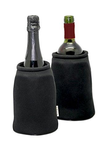 Vin Bouquet FIE 193 Seau Pliable, Neoprene, Noir, 18,5x16x2 cm