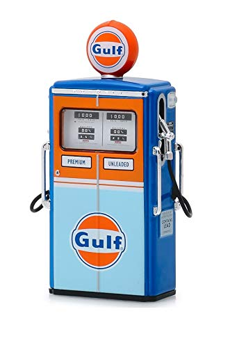 Greenlight 14070-C Vintage Gas Pumps Series 7-1954 Tokheim 350 Twin Gas Pump Gulf Oil 1/18 Scale