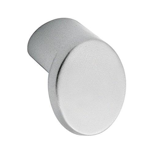 Bouton de porte ø 21 mm, profondeur 21 mm, zinc moulé sous pression couleur aluminium