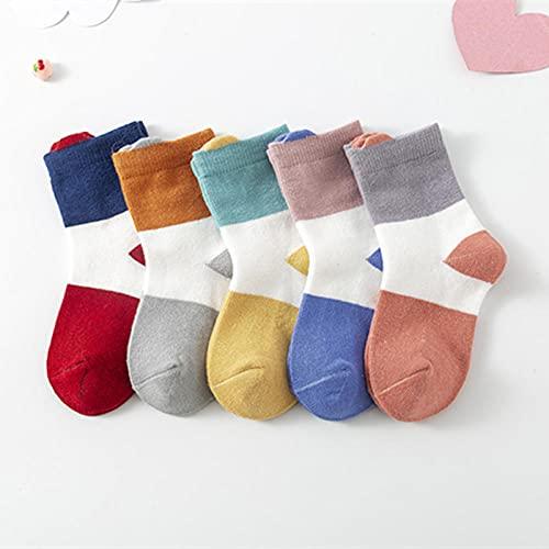 MIWNXM 10 Pares Calcetines de bebé Otoño Invierno Primavera Niños S Calcetines de algodón Calcetines para Estudiantes Calcetines Antideslizantes para el Piso Calcetines para niños y niñas