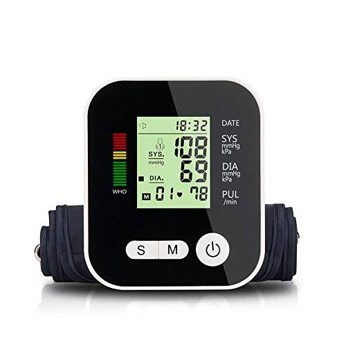LTLGHY Oberarm-Blutdruckmessgerät USB Aufladbar, Elektronisches Blutdruckmessgerät Sprachübertragung Und Herzfrequenz, 22-32Cm Große Manschette, 2X99 Zwei-Benutzer-Speichermodus(Mehrweg)