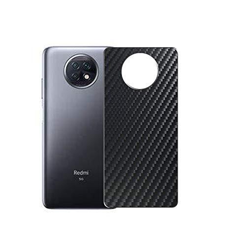 VacFun 2 Piezas Protector de pantalla Posterior, compatible con Xiaomi Redmi Note 9T, Película de Trasera de Fibra de carbono negra