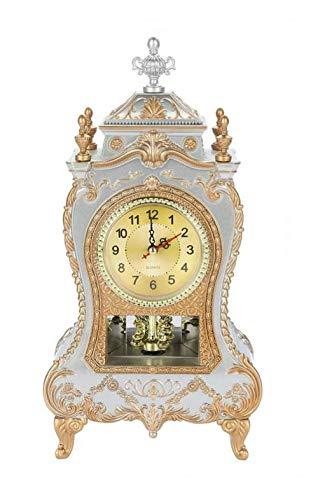 whbage Wecker Schreibtisch Retro Wecker Vintage Uhr Klassische Royalty Wohnzimmer TV-Schrank Imperial European Creative Sit Pendeluhren