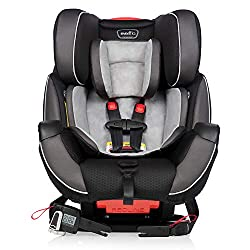 Coming in highly rated on the list of car seat recommendations, the Graco Extend2Fit is an excellent choice. This is an affordable car seat that will fit your family budget!
