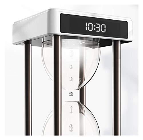 Youpin Lámpara antigravedad levitación de agua gota tiempo reloj de arena fuente de agua (color: blanco)