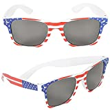 Patriotic Sunglasses - 4th of July Accessories! USA Flag American Costume Dress-up Pretend Play Red, white, and Blue Flag Design Great for Patriotic Holidays and Beyond