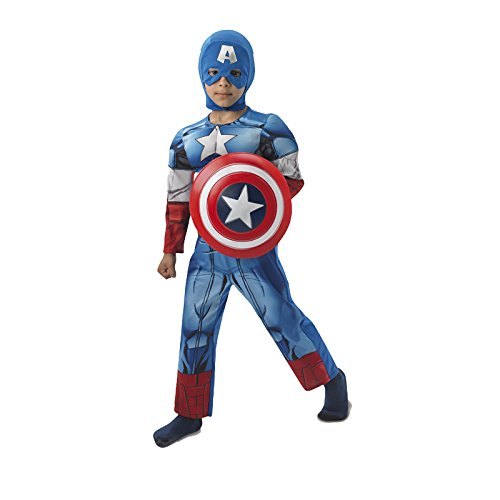 Rubie's - Disfraz Marvel The Avengers Capitn Amrica para nios, talla S (I-610261S)