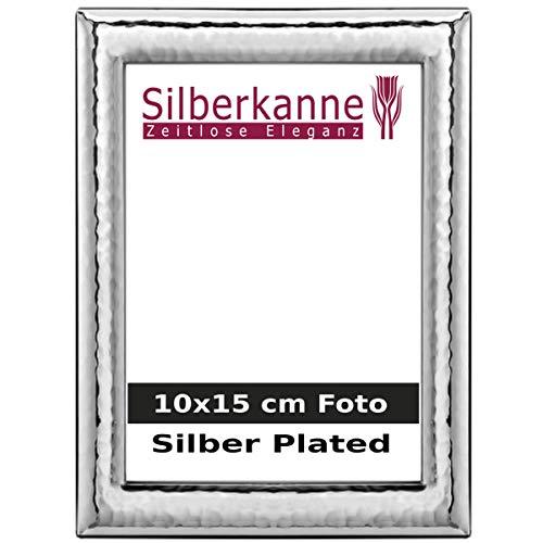 Silberkanne Monaco - Cornice portafoto con dorso in legno, 10 x 15 cm, argento placcato argento