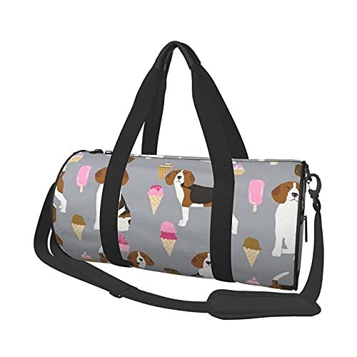 Beagle Bolsa de deporte para el gimnasio, con compartimento para zapatos y bolsillo húmedo para mujeres o hombres