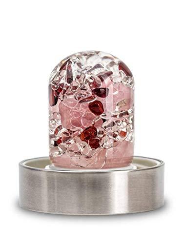 VitaJuwel LOVE Edelsteinmodul für ViA Flasche mit Rosenquarz, Granat & Bergkristall