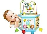 EasY FoxY ToY Activity-Center-Baby; Motorikwürfel-Spielzeug aus Holz für Kinder; Holzspielzeug Motorik für Jungen Mädchen, Nachhaltiges Geschenk zum Lernen