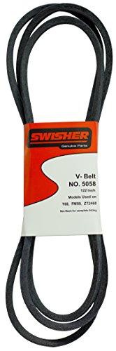 Swisher 5058 122-Inch Belt - Fits select Swisher 60-in Trailmowers and ZTR Mowers - Black/Blue