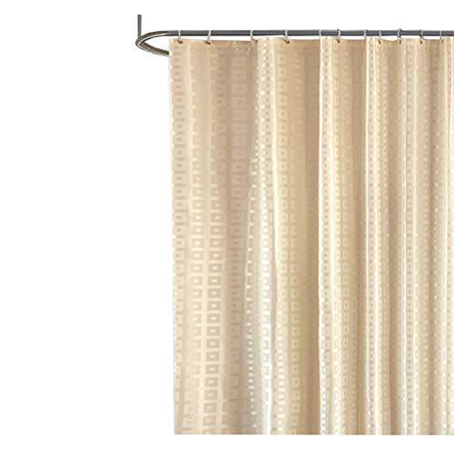 SonMo Duschvorhang Gitter Muster Quadrat Polyester Beige Wasserdicht Anti-Bakteriell Anti-Schimmelbadewanne Vorhänge mit Duschvorhangringen Verdicken als Trennwand 240×200CM