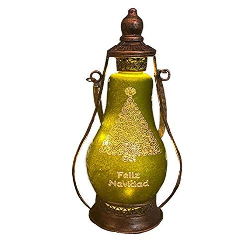 LED-Öl-Lampen-Hotel Familienweihnachtsdekorationen Crafts Ornamente, Grün, S